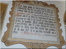 ST6601 : St Mary, Cerne Abbas: wall text (C) by Basher Eyre