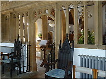 ST6601 : St Mary, Cerne Abbas: chairs by Basher Eyre