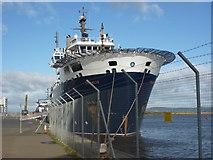 NT2677 : Coastal Edinburgh : NLV Pharos Berthed at Leith by Richard West