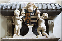ST0642 : St Decuman's church, Watchet - monument to Sir William Wyndham (2) detail by Mike Searle