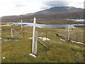NF7628 : Fence above Loch Eynort by Hugh Venables