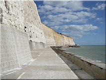 TQ4100 : Undercliff Walk at Peacehaven by Paul Gillett