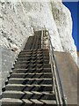 TQ4200 : Steps from Undercliff at Peacehaven by Paul Gillett
