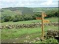 SE1949 : Finger-post on route of Six Dales Trail by John Sparshatt