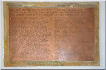 ST6390 : War memorial names, Thornbury by Philip Halling