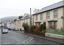 SN8746 : North side of Irfon Terrace, Llanwrtyd Wells by Jaggery