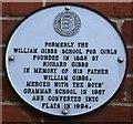 TR0161 : Plaque on William Gibbs School, Faversham  by David Anstiss