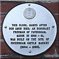 TR0261 : Bob Amor Plaque, Faversham by David Anstiss