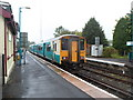 SN7634 : A Sunday afternoon departure for Swansea waits at Llandovery railway station by Jaggery