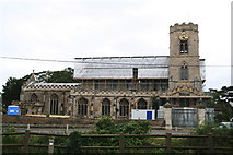 TF5002 : Church of St. Peter undergoing maintenance, September 2012 by Chris