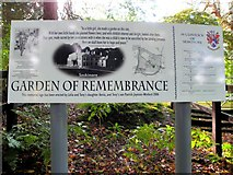 H4963 : Garden of Remembrance Memorial Sign, Seskinore by Kenneth  Allen