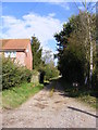 TM3779 : Footpath & entrance to Bonds Farm by Geographer