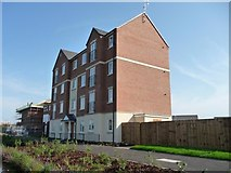SO8277 : Four-storey canalside block of flats by Christine Johnstone