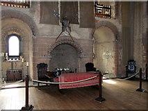 TL7835 : Fireplace in Hedingham Castle by PAUL FARMER