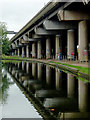 SP0989 : Canal and M6 flyover near Gravelly Hill, Birmingham by Roger  Kidd