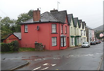 SN8746 : Irfon Terrace NW of Station Road, Llanwrtyd Wells by Jaggery