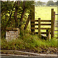 SJ9078 : Milepost and Stile, London Road by David Dixon