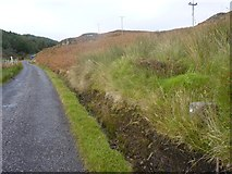 NR6307 : Milestone on road to the Mull of Kintyre Lighthouse by Becky Williamson