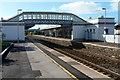 ST3036 : Bridgwater railway station footbridge by Jaggery