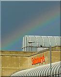 SO9198 : Rainbow over Sainsbury's, Wolverhampton by Roger  Kidd