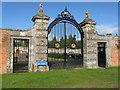 NO3848 : Garden gate at Glamis by M J Richardson