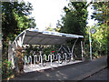 TQ3952 : Oxted station cycle parking by Stephen Craven