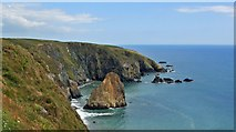 X4598 : Cliffs at Tankardstown by Paul O'Farrell