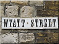 TQ7656 : Old sign for Wyatt Street by Mike Quinn