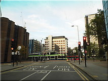TQ3266 : Poplar Walk at the junction of Wellesley Road, Croydon by David Howard
