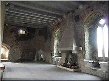 ST1587 : Inside a tower at Caerphilly Castle by Jeremy Bolwell