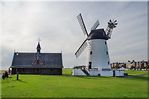 SD3727 : Former Lytham Lifeboat Station and Lytham Windmill by Alexander P Kapp