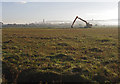 SD4461 : Digger by Oxcliffe Pool by Ian Taylor