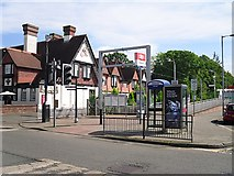 NS3881 : Entrance to Balloch Railway Station by Rose and Trev Clough
