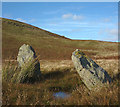 NY4916 : Prehistoric standing stones, Four Stones Hill by Karl and Ali