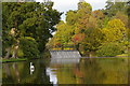 TQ4123 : Sheffield Park: the weir and Lower Woman's Way Pond by Christopher Hilton