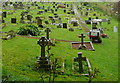 SS9843 : Dunster cemetery by Graham Horn