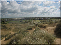 TQ9618 : Camber, seen from the top of the sand dunes by Graham Robson