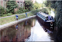 SK5702 : Waiting for St. Mary's Mill Lock Grand Union Canal Leicester Section by Jo Turner