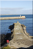 NJ9605 : Old South Breakwater, Aberdeen Harbour by Bill Harrison