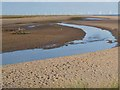 TF5658 : Creek and beach at Gibraltar Point by Oliver Dixon