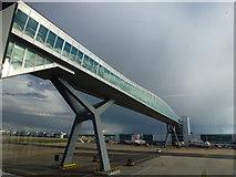 TQ2741 : High level footbridge, London Gatwick North Terminal by Richard Humphrey