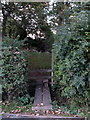 SP8525 : Stile into the recreation ground by Philip Jeffrey