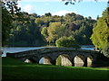 ST7733 : Stourhead: Stone Bridge and the shaded grotto by Chris Downer