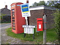 TM4084 : Telephone Box & Silver Ley Postbox by Adrian Cable