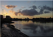 TQ2575 : Sunset at Wandsworth by Derek Harper