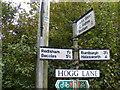 TM3983 : Roadsign on Hogg Lane by Geographer