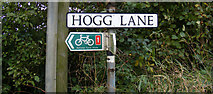 TM3983 : Hogg Lane sign by Adrian Cable