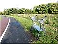 NZ4916 : Ornamental bench adjacent footpath and cycleway by Alex McGregor