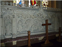 ST5906 : St Mary, Melbury Bubb: reredos by Basher Eyre