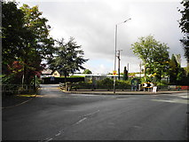 SD9100 : Entrance to Daisy Nook Garden Centre - Stannybrook Road Oldham by John Topping